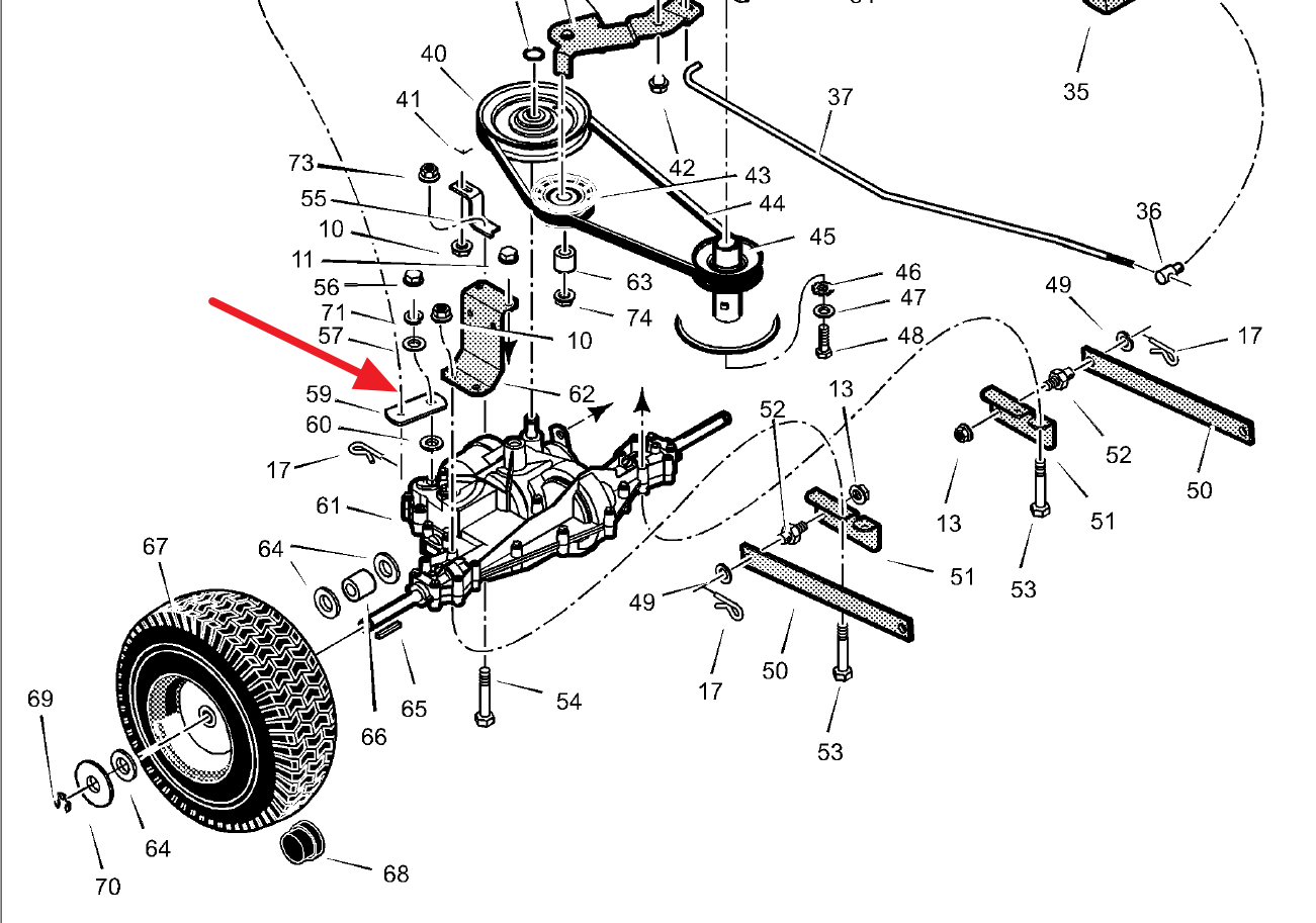 Murray Lawn Mower Belts Diagram