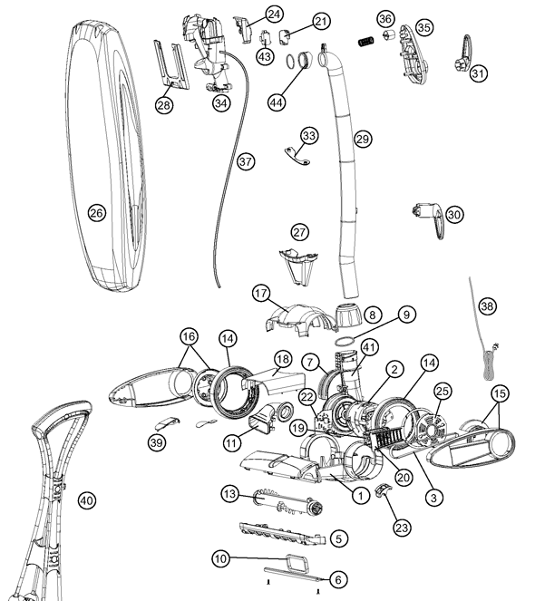Oreck Vacuum Parts Diagram