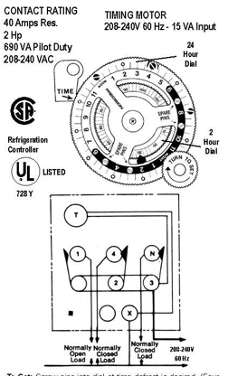 Paragon Defrost Timer 8141-20 Wiring Diagram