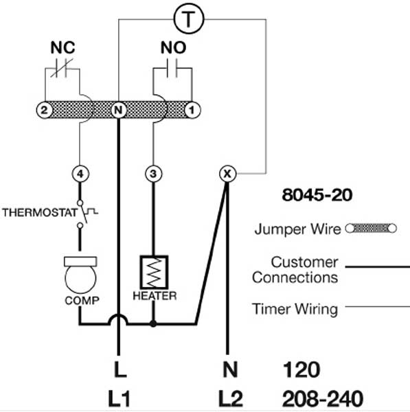 Paragon Defrost Timer 8145-00 Wiring Diagram