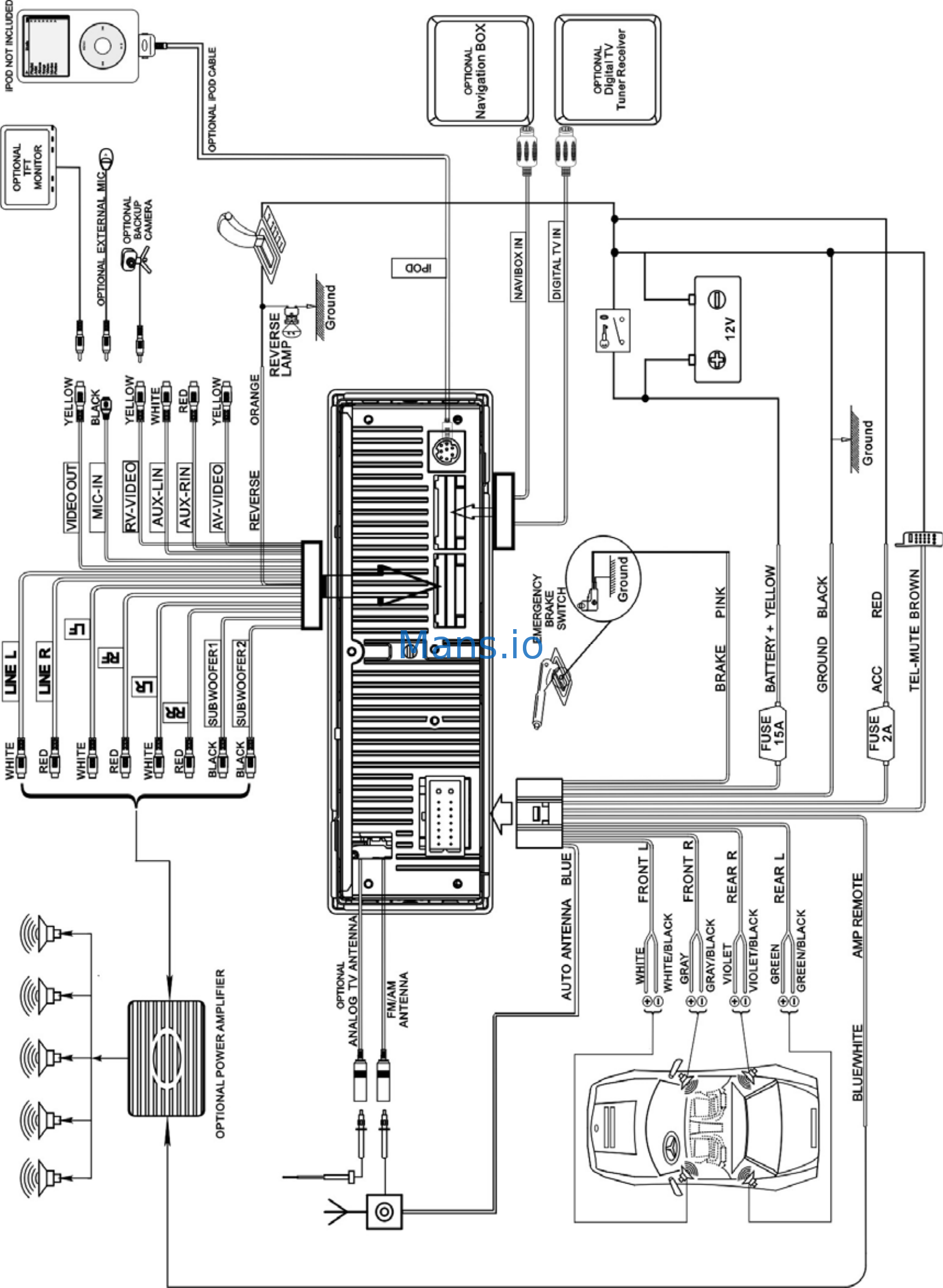 Power Acoustik Pd-931nb Wiring Diagram
