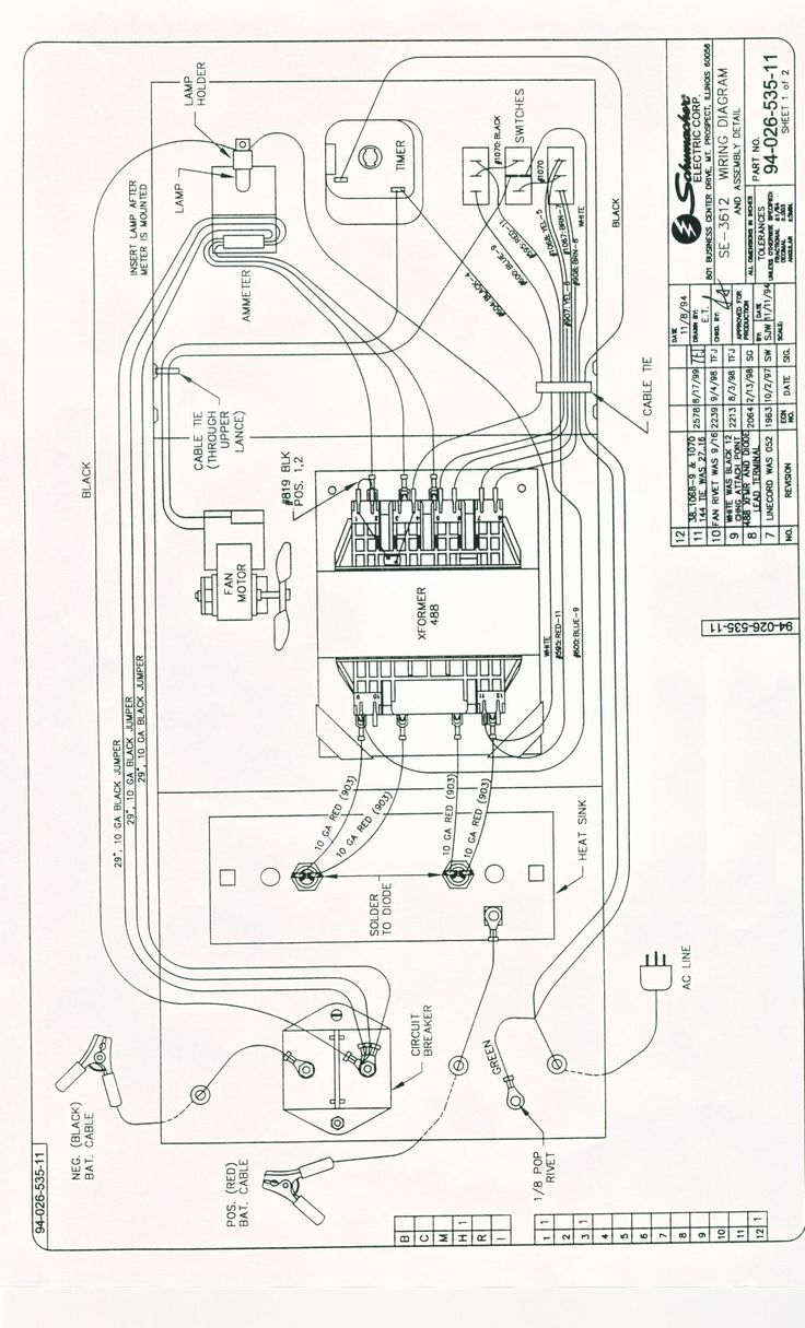 Schumacher Se-1052 Wiring Diagram