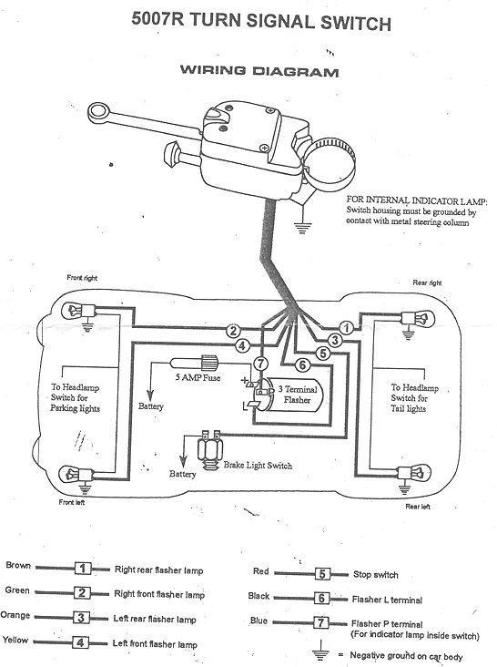 Signal Stat 900 Turn Signal Switch Wiring Diagram