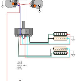 3 way switch 2 humbucker wiring diagram [ 822 x 1137 Pixel ]
