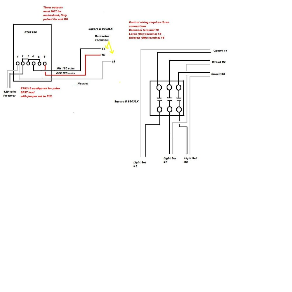 medium resolution of for a lighting contactor wiring