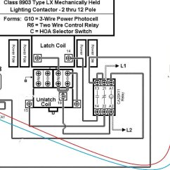 Lighting Contactor Photocell Wiring Diagram Plot Graphic Organizer Printable Square D 8903