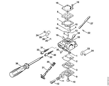 Stihl Fs 80 Carburetor Diagram
