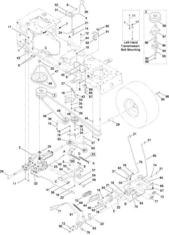 Toro Lx426 Drive Belt Diagram
