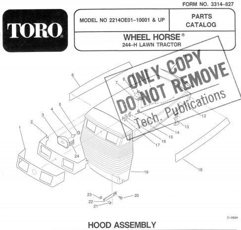 Toro Wheel Horse 244 H Wiring Diagram