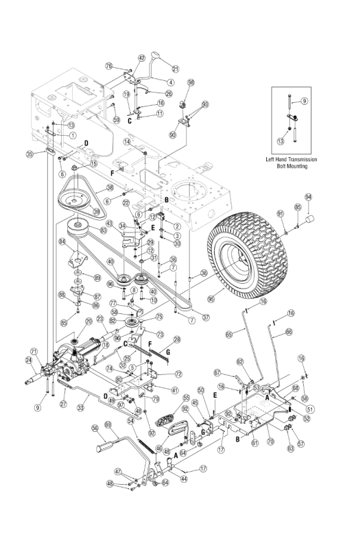 small resolution of troy bilt horse lawn tractor wiring diagram