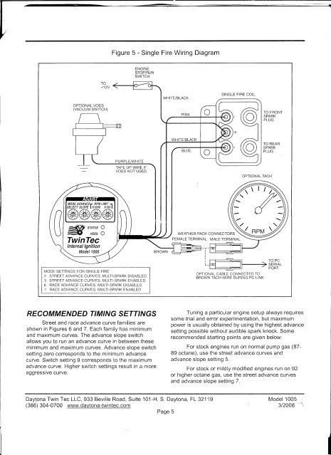 Ultima Single Fire Wiring Diagram
