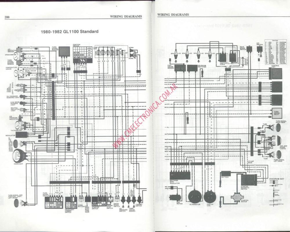 medium resolution of honda gl wiring diagram