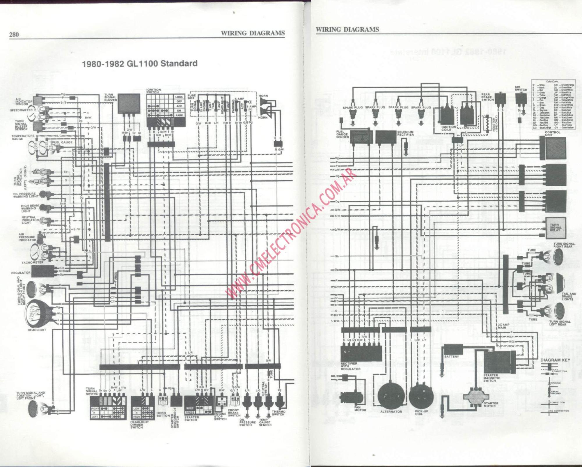 hight resolution of honda gl wiring diagram
