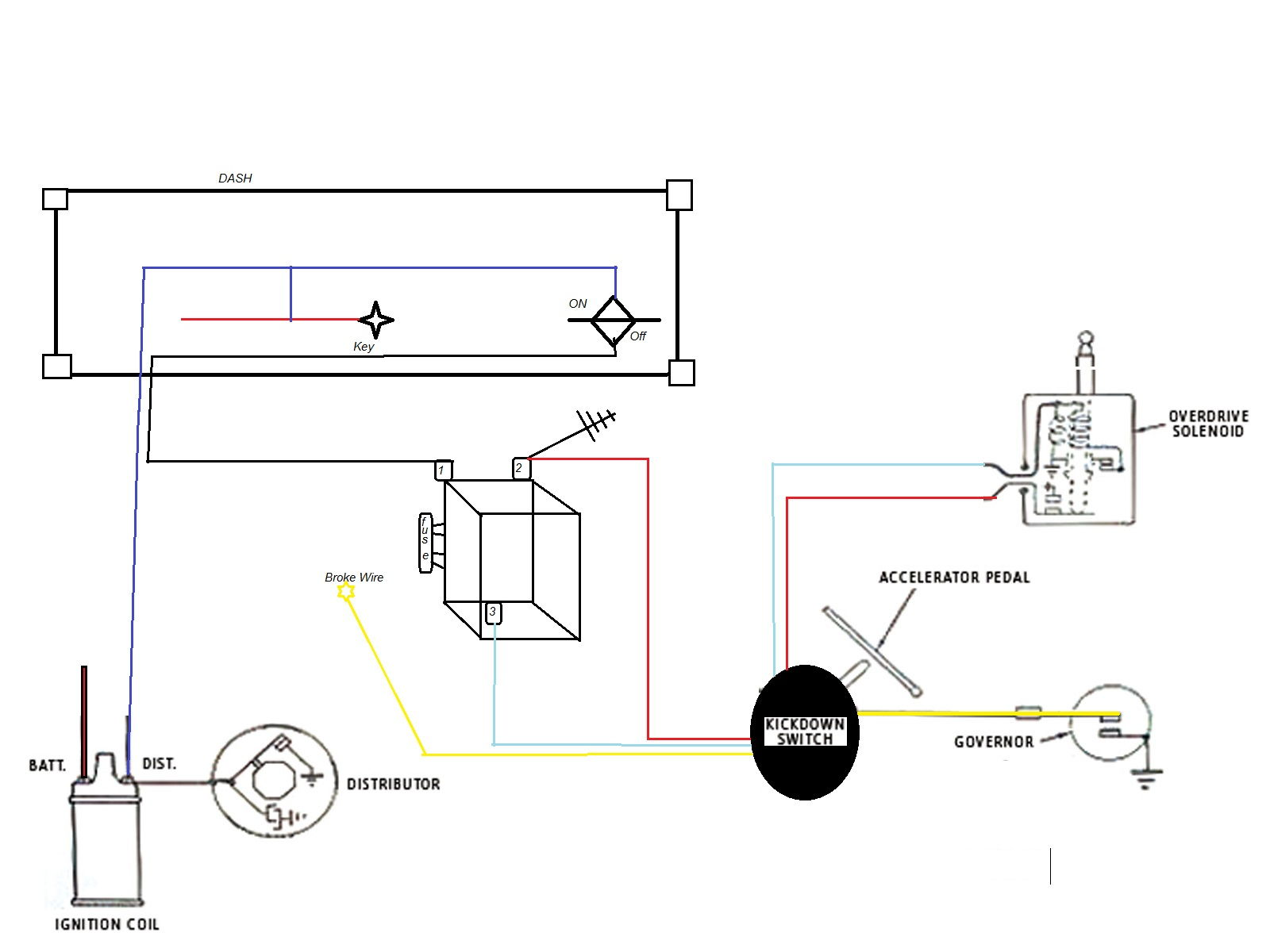 Wiring Diagram For An R10 Borg Warner Overdrive