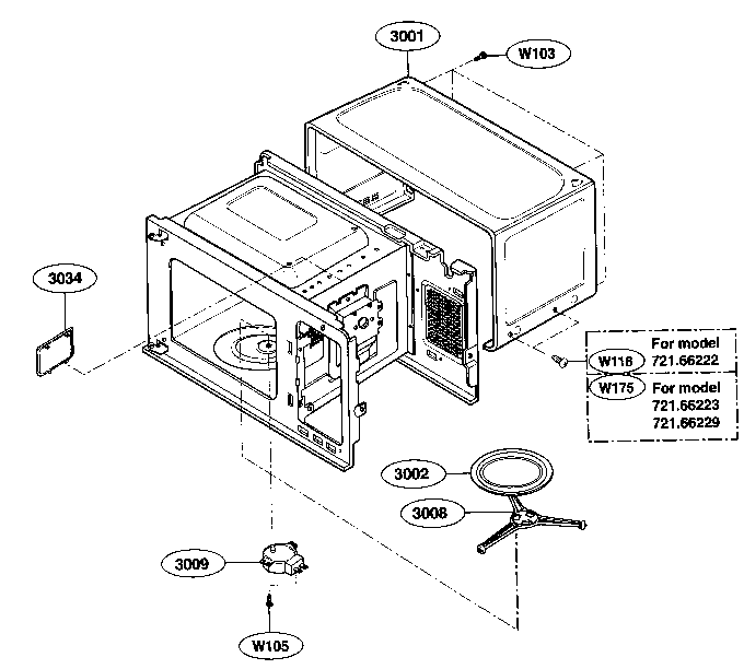 Wiring Diagram For Kenmore 72166222500 Microwave