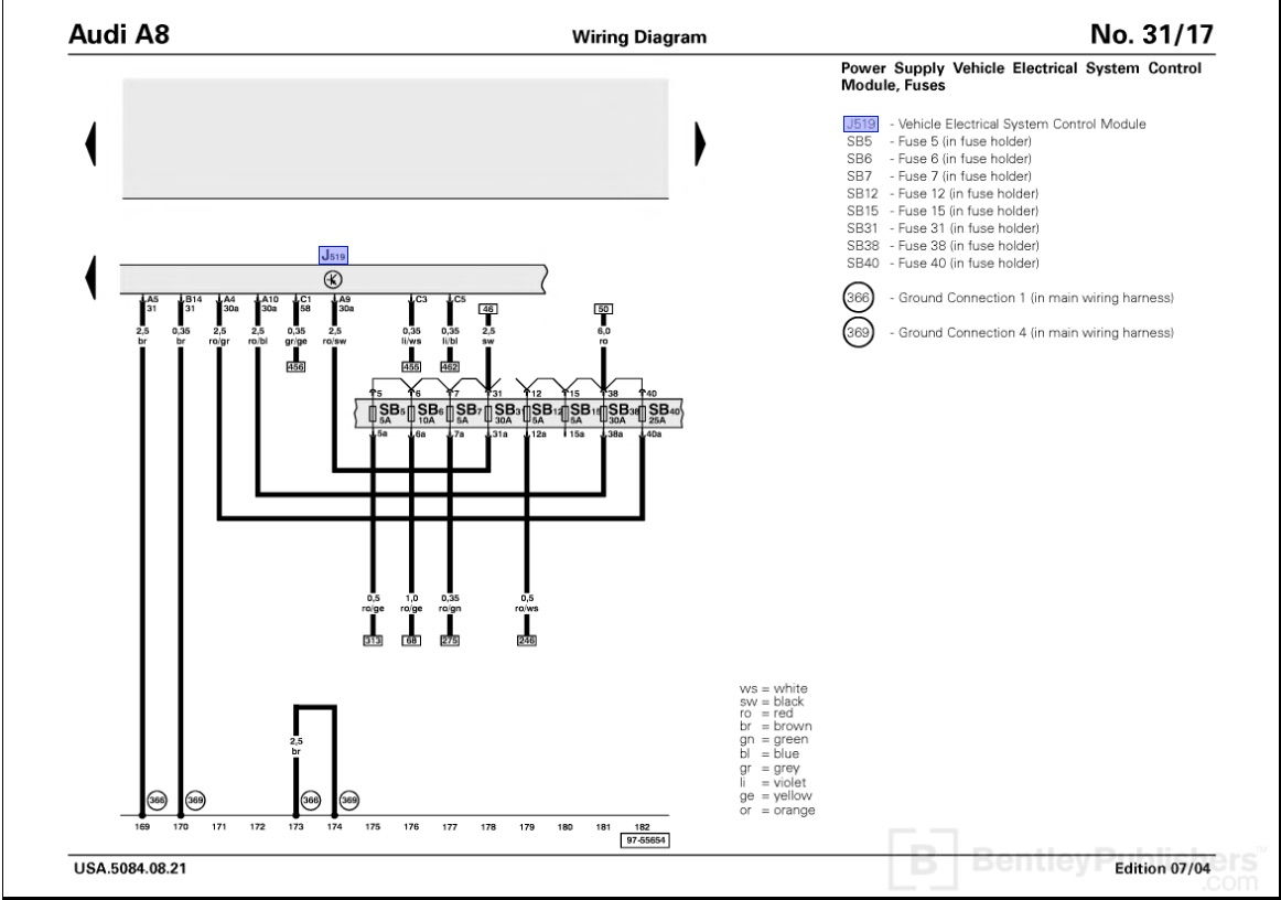 Wiring Diagram To Factory Amp In A 2004 Audi A8l