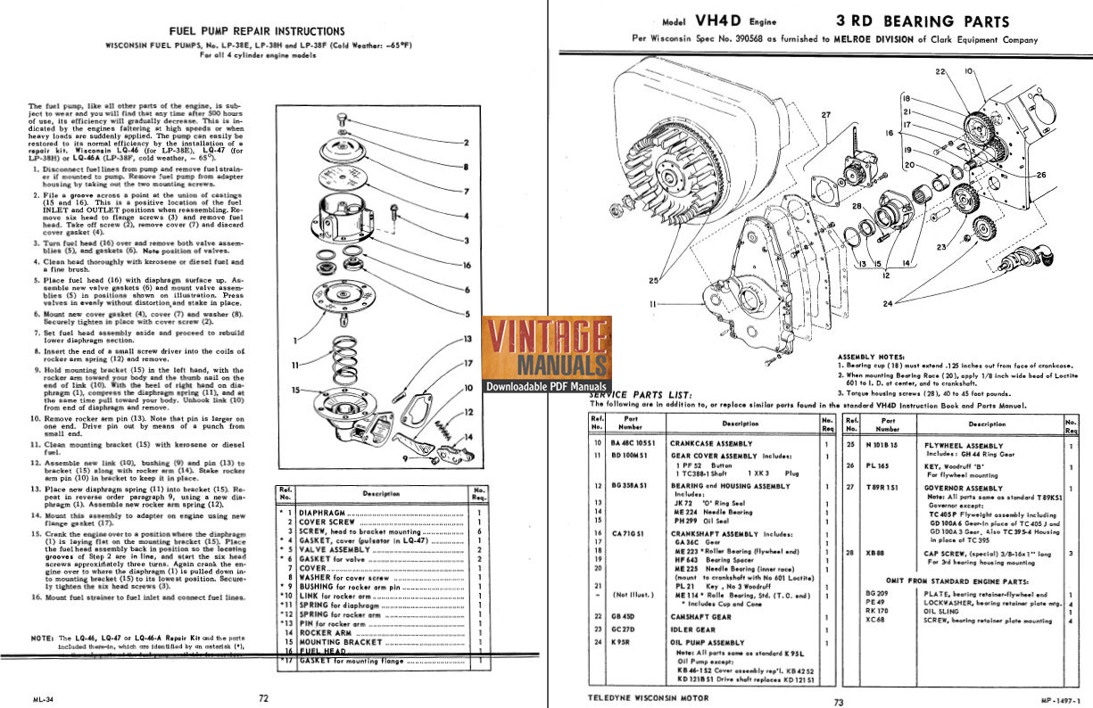 Wisconsin Vh4d Wiring Diagram
