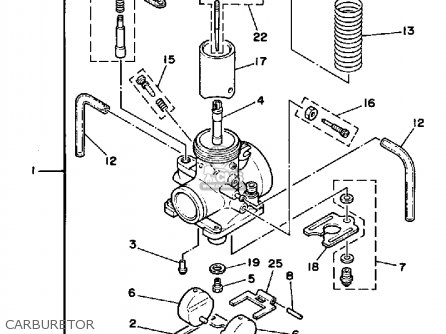 Yz 125 Carburetor Diagram