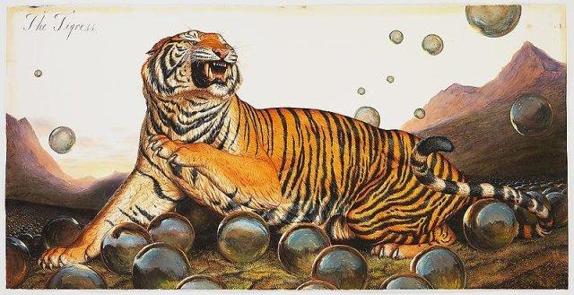 Walton Ford, The Tigress (2013). Photo: paulkasmingallery.com