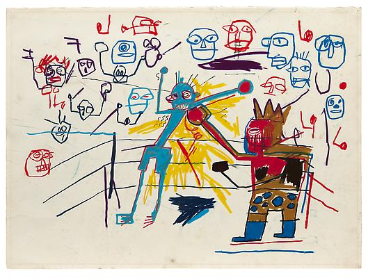 Jean-Michel Basquiat, Untitled (Boxing Ring) (1981). Photo: acquavellagalleries.com
