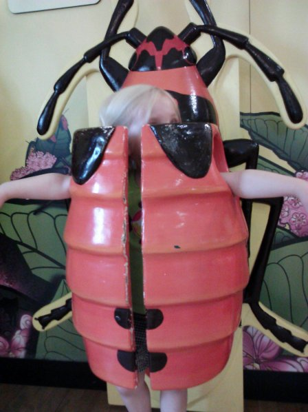 Fiona tests out what it's like to be a bug at the Staten Island Children's Museum.