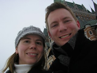 In front of the Château Frontenac