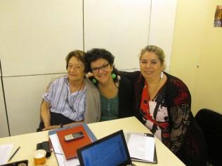 Octubre 2013. Rosa Maria Oliu se incorpora a la junta. (Rosa Maria Oliu, Mercè Amor y Fàtima Ahmed).