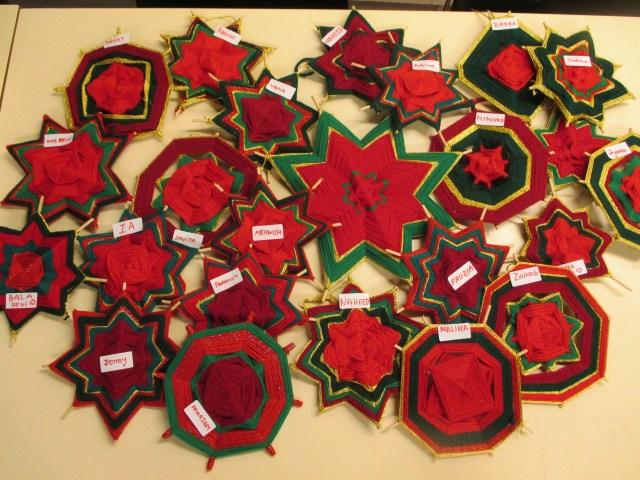 Preparatius Nadal estrelles de llana desembre 2014