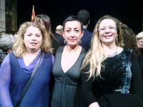 Fàtima Ahmed (Presidenta de Diàlegs de dona), Montse Gatell (Presidenta de l'ICD) i Salwa El Gharbaoui (AFCAR)