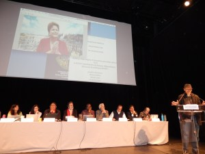 The expert panel of the International Rights of Nature Tribunal (image: Fermín Koop)