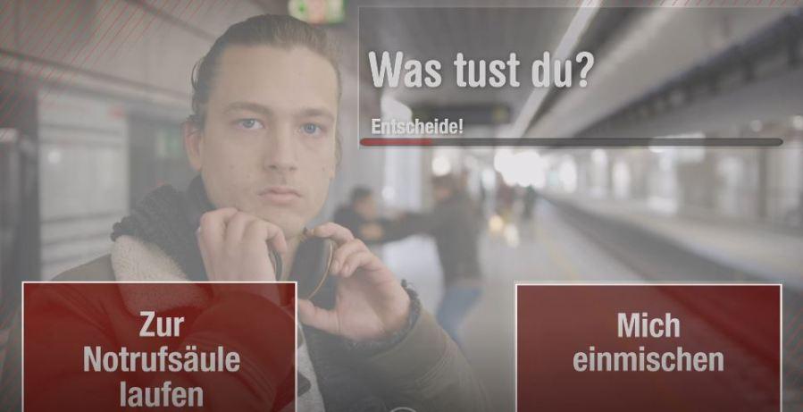 Kampagne zu Sicherheit und Zivilcourage Quelle: Wiener Linien