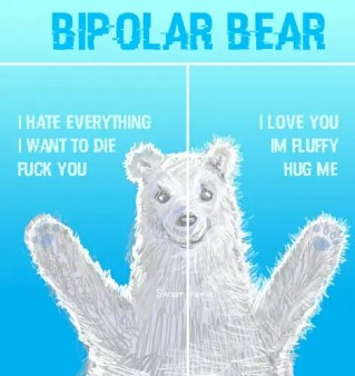 This is that bi-polar bear from those jokes