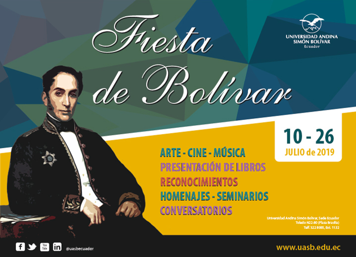 La Universidad Andina cumple una agenda en honor al natalicio de Simón Bolívar