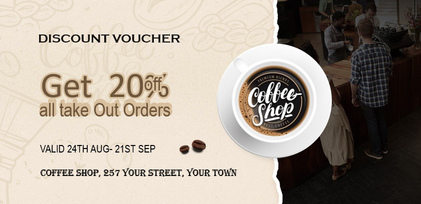 Vouchers & coupons for cafes & coffee shops