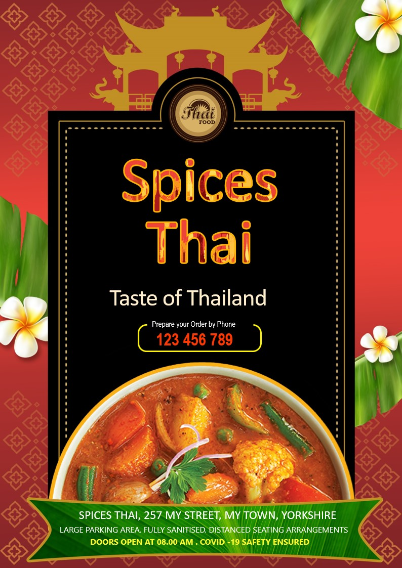 Flyers and leaflets for Thai Restaurants