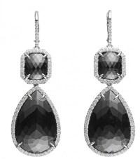 Black Diamonds | Pink Diamond Earrings