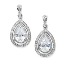 Wedding Earrings | Pink Diamond Earrings