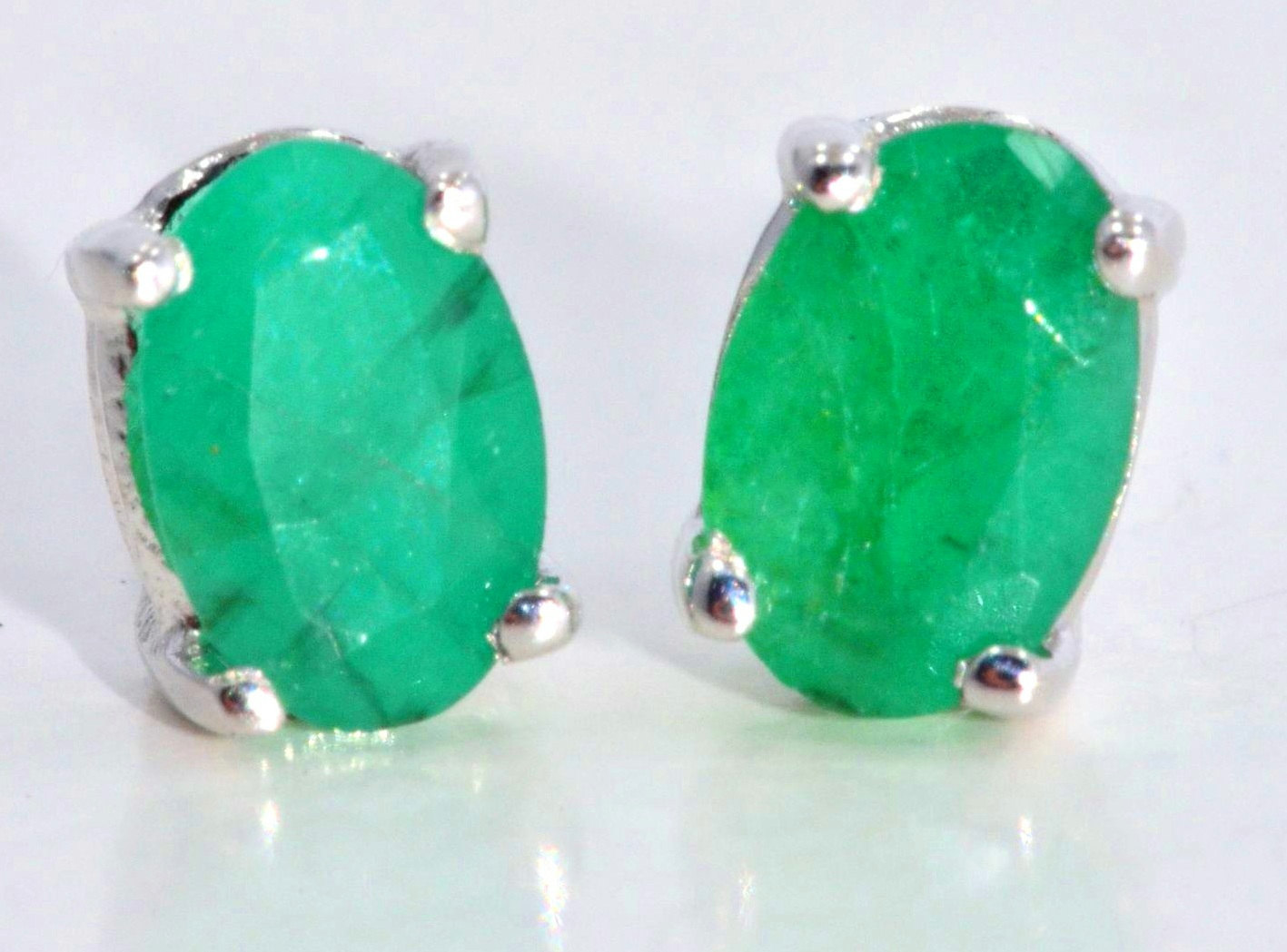 Exceptional Emerald Earrings  Pink Diamond Earrings