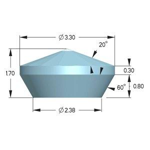 Type IIac Diamond Anvils - Boehler Almax Design