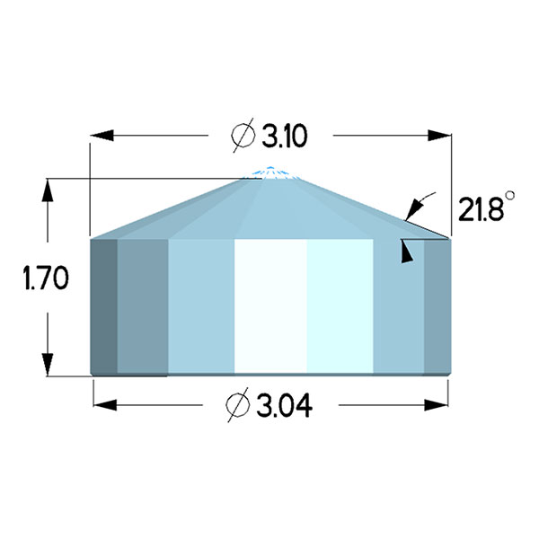 Type 1a; Diacell Design; X=3.10mm, H=1.70mm