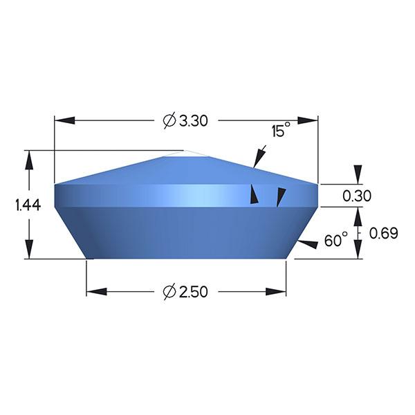 Sapphire; Boehler Almax Design; D=3.30mm,85deg
