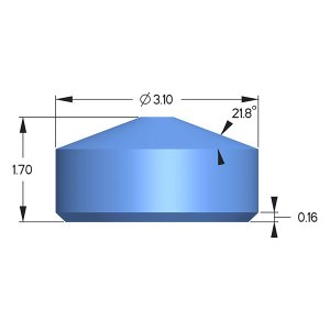 Sapphire Anvil, Diacell Design; X=2.50mm; H=1.55mm