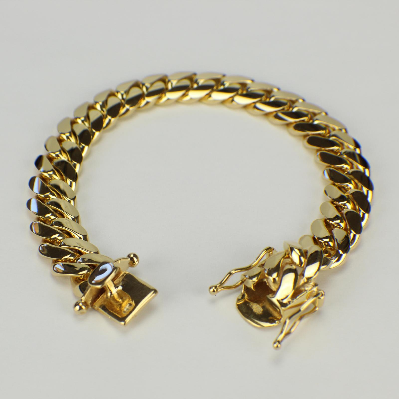 c4f8788aebd9a 14K 12mm Miami Cuban Link Bracelet