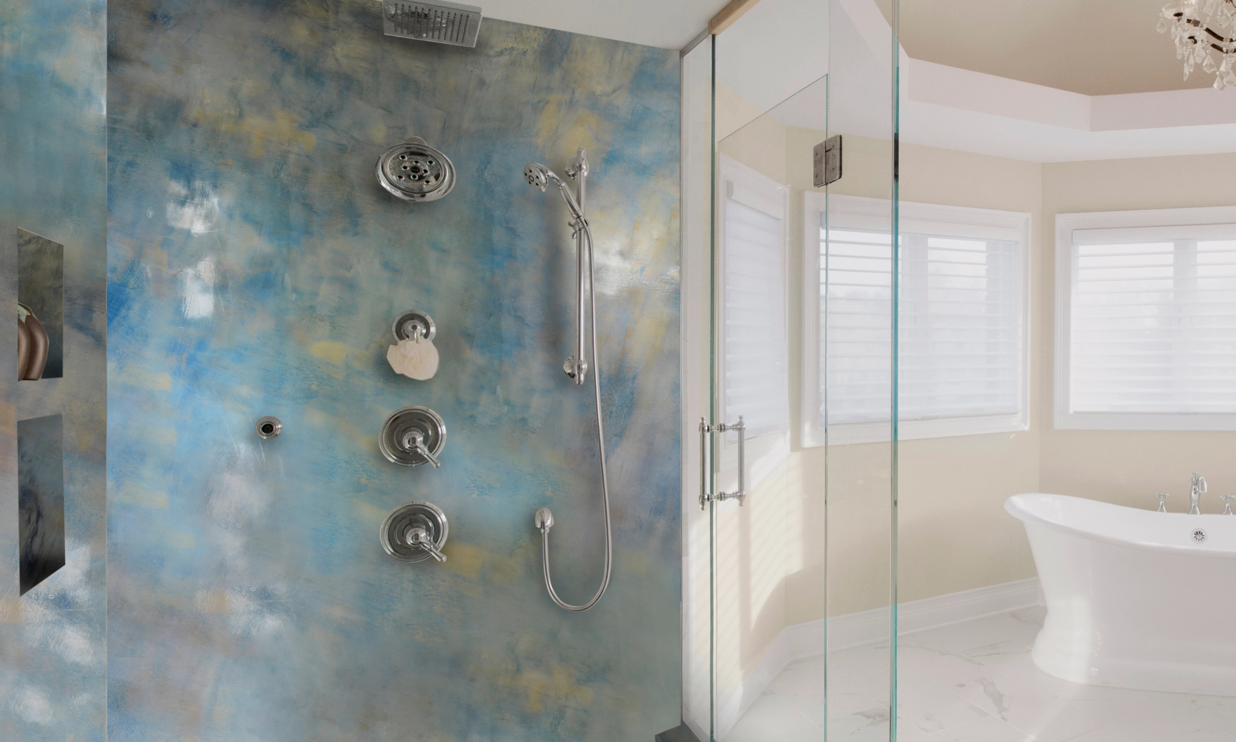 Shower Wall Refinishing Coating  Accent Walls and Shower