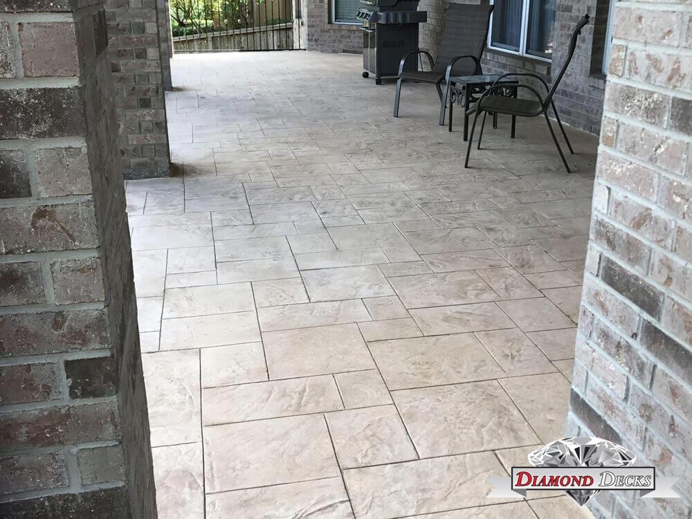stamped concrete patio san antonio