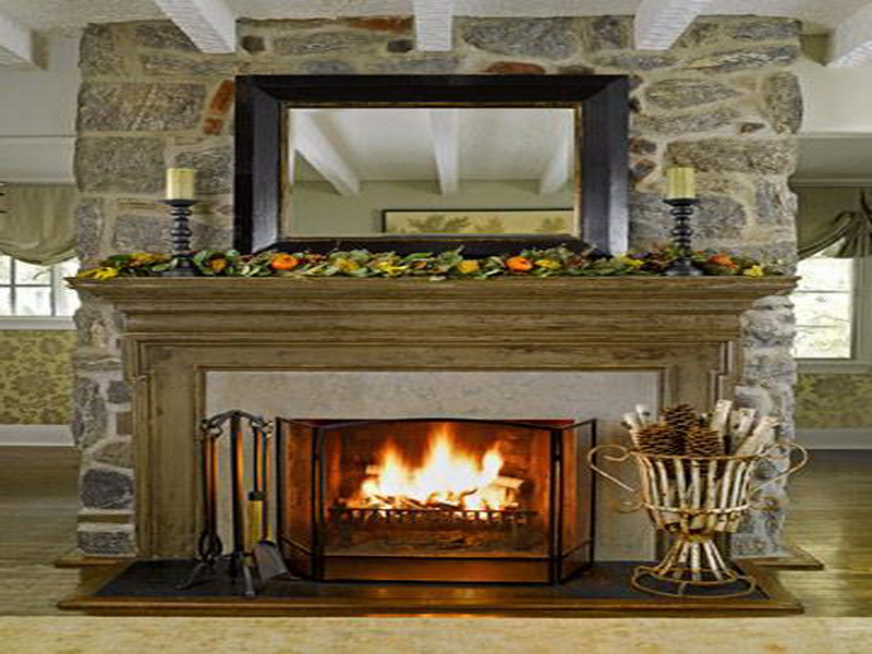 Rock Fireplace Mantel Decorating Ideas To Make Your Fireplace Pop - Diamond