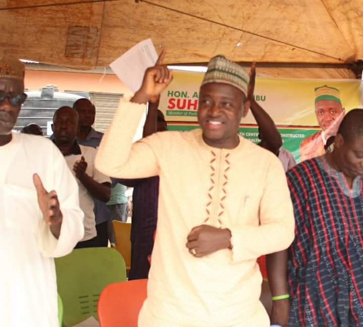 Alhassan Suhuyini at a ceremony to commission the renovated Choggu health Centre