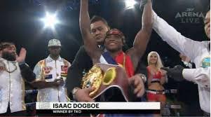 ISAAC DOGBOE IS INTERIM WBO FEATHERWEIGHT CHAMPION