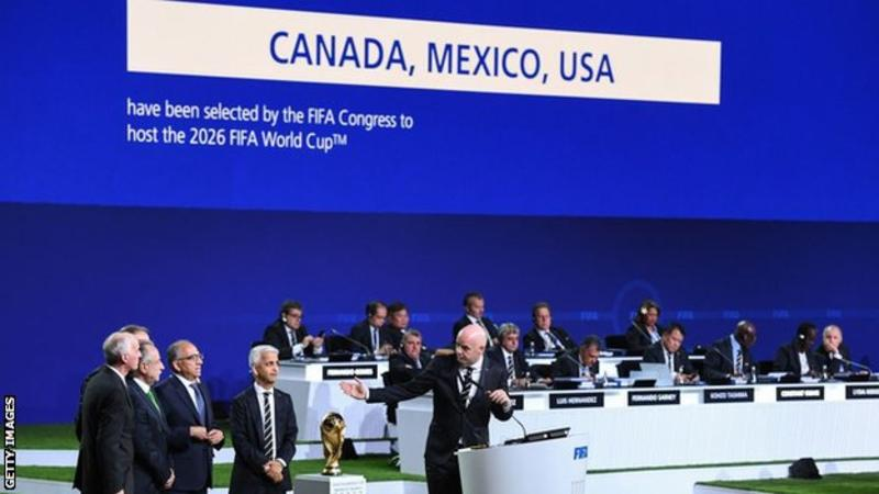 THE EXPANDED WORLD CUP IN 2026 WILL BE HOSTED IN THE AMERICAS