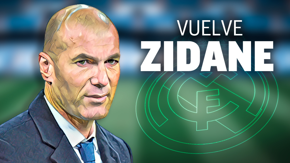 Zinedine Zidane is back as Real Madrid coach after 284 days